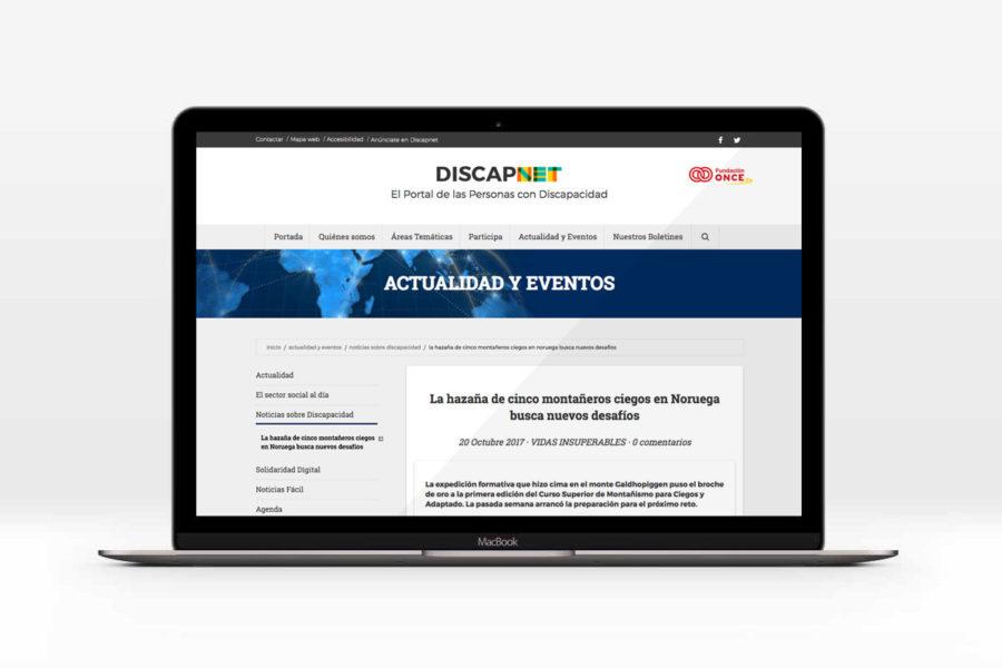 Discapnet Recoge Nuestro Reportaje Sobre La Hazaña De Cinco Montañeros Ciegos