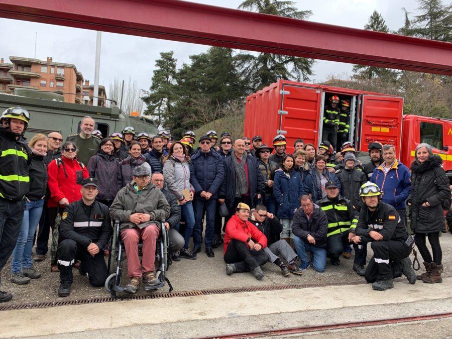 15 Personas Con Discapacidad, 'rescatadas' Por La UME Tras Un 'terremoto'