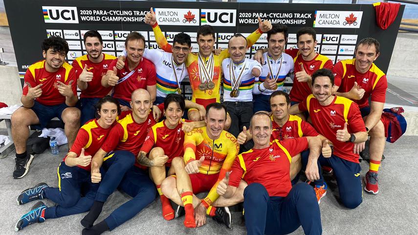 Ricardo Ten Lidera Con 4 Medallas A España, Que Regresa Con 10 Metales Del Mundial De Ciclismo
